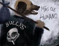 "Bullys first album cover ""Más que humano"""
