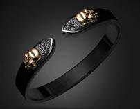 Gothic cuff bracelet - TYVODAR