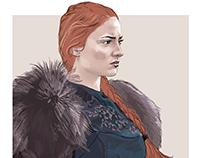 Sansa Stark - Game of Thrones character illustration