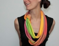 Digitally Printed Organic Cotton Scarves