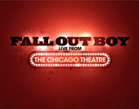 """""""Fall Out Boy: Live from the Chicago Theatre"""" logo"""
