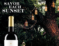 SkyFall Wine Savor Each Sunset Ad Series