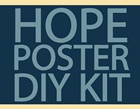 Presenting the HOPE POSTER DIY KIT