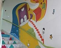 Mural en Centro Cultural Comfandi