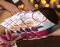 Free women spa flyer template