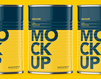 Can With Pull Tap - Front Angle - Product Mockups