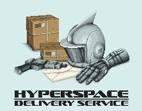 Hyperspace Delivery Service Graphics