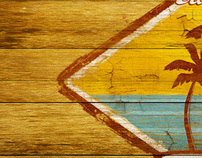 Wooden Plaque Illustration