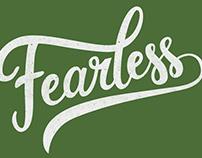 'Fearless' (brush lettering) Tshirt design