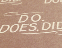 Do Does Did - Note Book