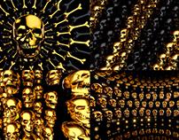 Golden Skull - VJ Loop Pack (4in1)
