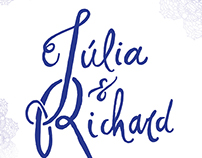 Júlia & Richard - Wedding invitation