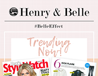 Email Blast for Henry and Belle