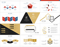 4 in 1 Infographic Report PowerPoint templates download