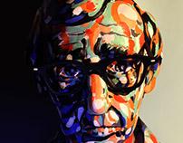 Woody Allen. Clay Sculpture.