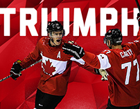 Team Canada 2018 Olympic Hockey Program Guide (Mockup)