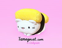 Tamago Cat Plush Toy, 6""