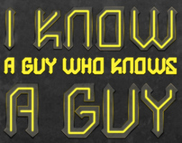 I know a guy poster