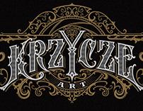 Krzycze Art / handwritten logo / lettering