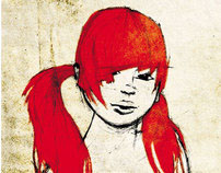 Redhead sketches '04-09 - rapid female drawings