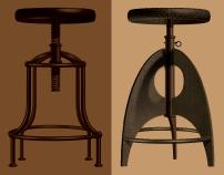 Artisan Metal Stools