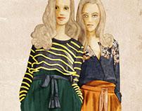 Digital fashion paintings for Glamour HU Sept 2009