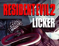 Illustration-Resident Evils's Licker