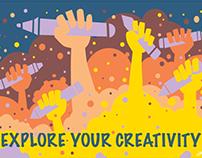 Explore Your Creativity Microsoft Surface TypeCover Art