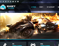 Swift Games Website Design