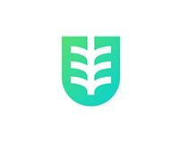 Unigrow logo design / letter U logo