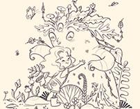 Lilu e o Asplênio - Livro de Colorir