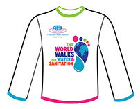 EWP World Walks for Water and Sanitation T shirts