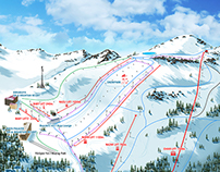 Kartalkaya - Dorukkaya Mountain Resort Ski Map