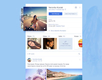 Social Profile Concept for Daily UI