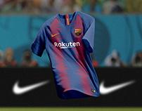 Nike F.C Barcelona Home & Away Jerseys 2018/19