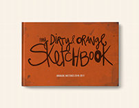 My dirty orange sketchbook urban sketching