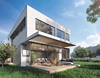 Sunny Villa Exterior Architectural Renderings