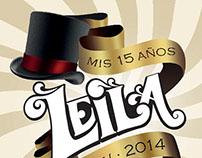 Diseño de etiquetas - Fiesta de 15