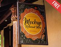 Restaurant Menu - 2 Free PSD Mockups