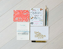 STATIONERY + LETTERING