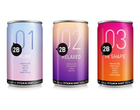 2B vitamin shots and water