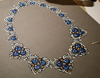 hand rendered necklace