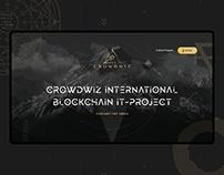 Промо-лэндинг блокчейн платформы