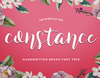 Constance Brush Font Trio