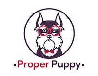 "Logo for ""Proper Puppy"""