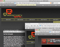 Sibling Rivalry Sports website design