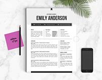 Resume & Cover Letter Design | The Emily