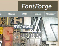 FontForge - Website Redesign