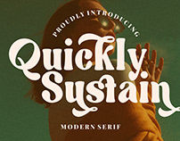 QUICKLY SUSTAIN MODERN SERIF - FREE FONT