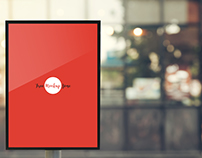 Free Outdoor Vertical Poster Mock-Up
